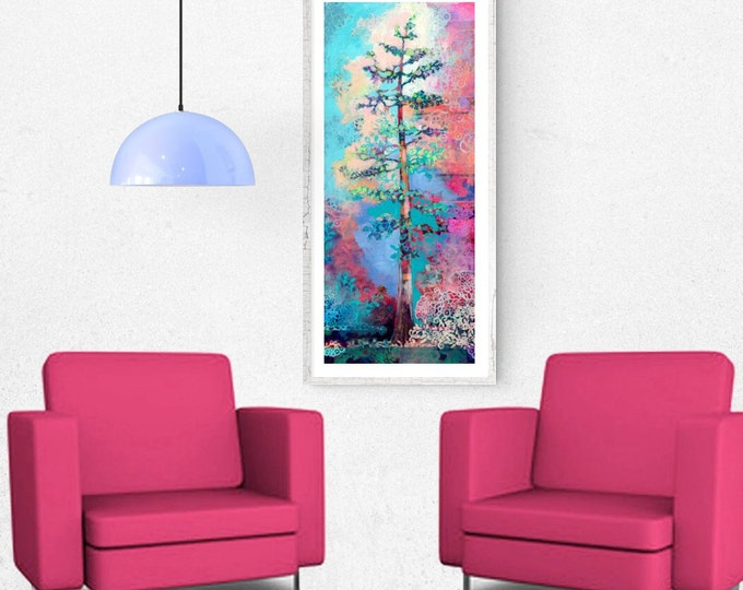 Featured listing image: Redwood Tree Abstract - Fine Art Print by Jenlo