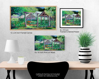 Welcome to Thyme Garden - impressionist Fine Art Print by Jenlo