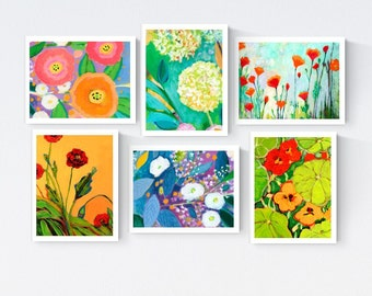 Fanciful Flowers - Blank Note Card Set by Jenlo