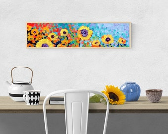 Sunflower Floral Abstract - Fine Art Print by Jenlo