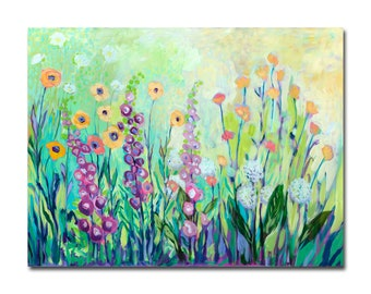 Limited Edition Print - Floral Garden Abstract Fine Art Reproduction by Jenlo