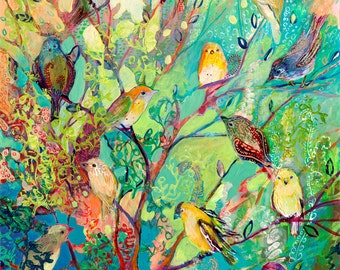 i am the place of refuge - Fine Art Bird Print by Jenlo