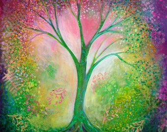 Mystical Tree of Life Art - Fine Art Print by Jenlo