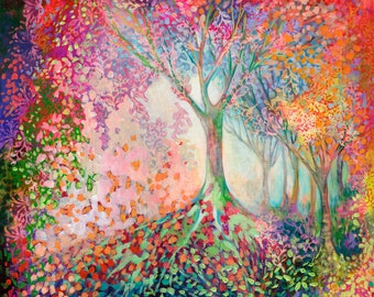 Mystical Tree Abstract - Fine Art Print by Jenlo