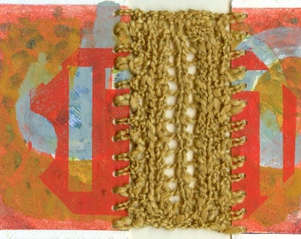 Stop Here - ORIGINAL Mixed Media Art by JENLO - includes frame
