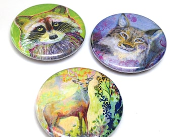 Wildlife - Magnet or Pin Set of 3 - by Jenlo
