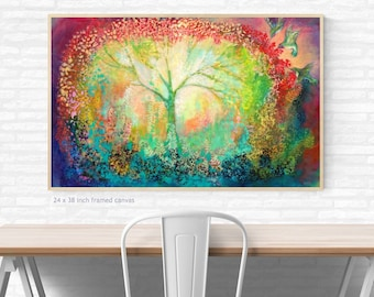 The Light Within - Fine Art Tree abstract Print by Jenlo