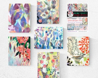 PRE-Order Virtual Art Show Set A - Blank Note Cards by Jenlo