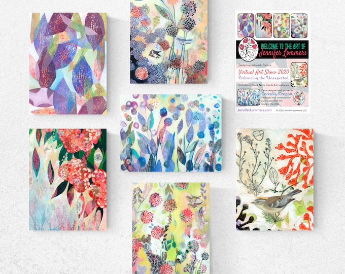 Featured listing image: PRE-Order Virtual Art Show Set A - Blank Note Cards by Jenlo