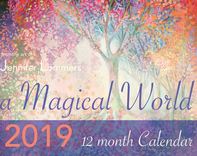 Featured listing image: SALE! a Magical World 2019 Calendar of Art by Jenlo