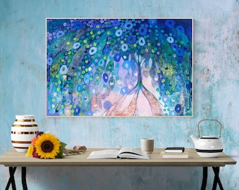 Peacock Tree Abstract - Fine Art Print by Jenlo