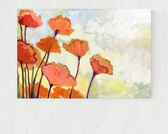 Pink Poppies - Fine Art Print by Jenlo