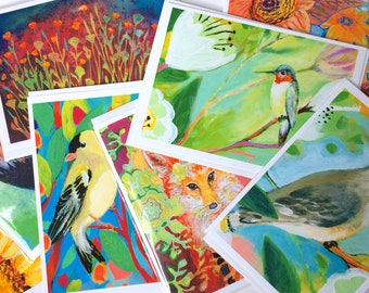 SALE - Lot 5 - Mixed Set of 8 Blank Note Cards by Jenlo