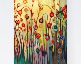 Contemporary Modern Floral Garden Art - Fine Art Print by Jenlo