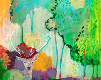 i am the meadow in the forest - Fine Art Print by Jenlo