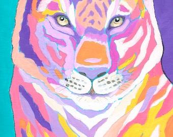 SALE - Paint by Design - Original Tiger II by Jennifer