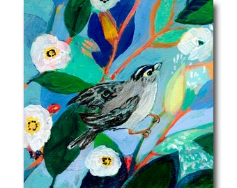 Crowned Sparrow Bird Print #28 from The NeverEnding Story Final Chapter by JENLO