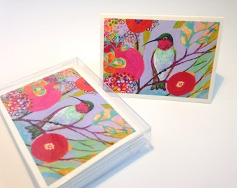 Variety Pack of Birds - set of 8 Folding Card Enclosures by Jenlo