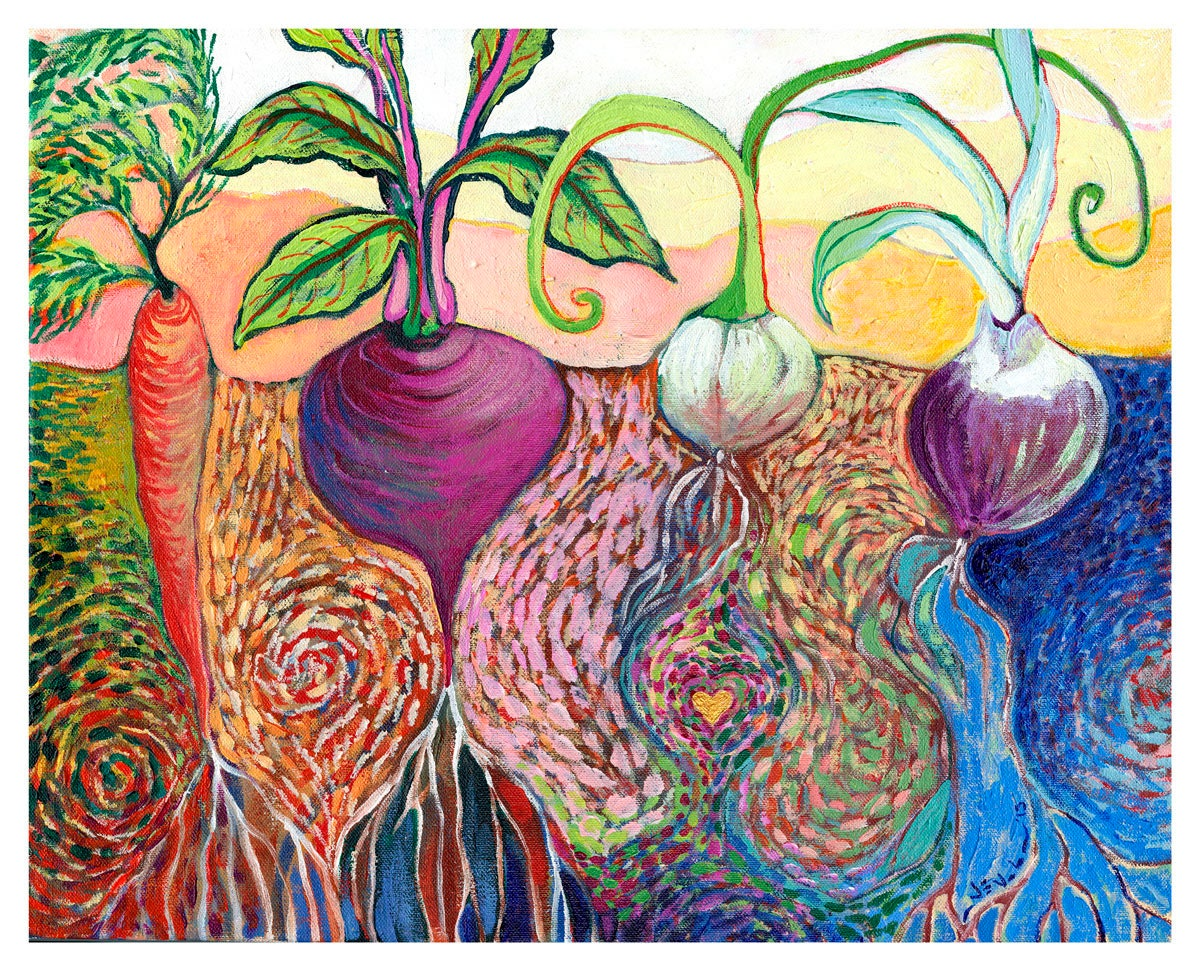 Awesome Modern Vegetable Garden Art Print By Jenlo Interior Design Ideas Gentotryabchikinfo