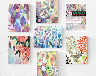 Virtual Art Show Set A - Blank Note Cards by Jenlo