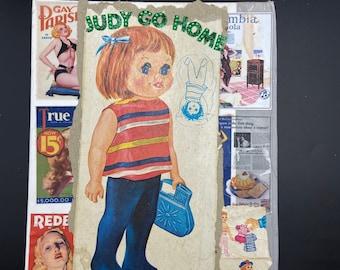Judy Go Home {Original Collage}
