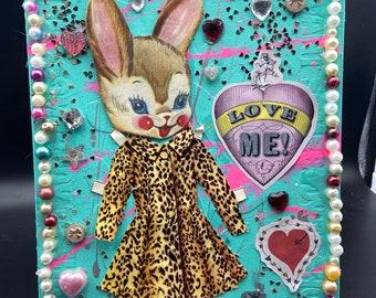 Love Me Bunny {Original Collage}