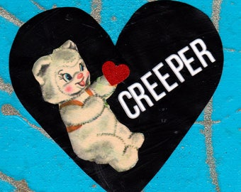 Creeper Valentine {Original Collage}
