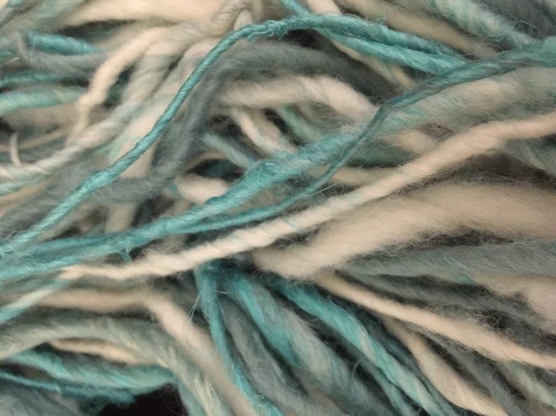 Hand Spun Aqua White Yarn
