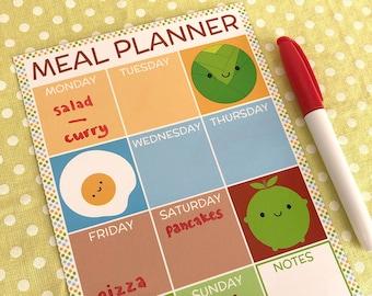 Dry Erase Kawaii Meal Planner Magnet