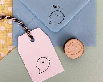 Kawaii Ghost Halloween Polymer Stamp