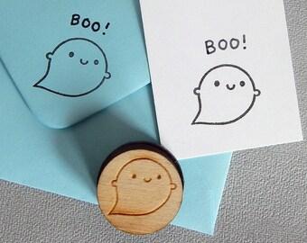 Little Ghost Polymer Stamp - Kawaii Halloween Crafts