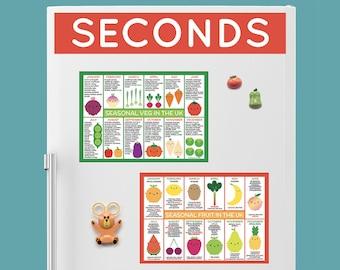 SECONDS - UK Seasonal Food Fridge Magnets