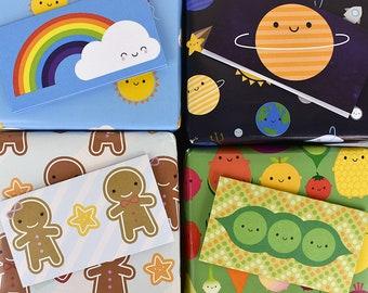 Pick & Mix Kawaii Gift Tags - Space, Food, Christmas, Birthday