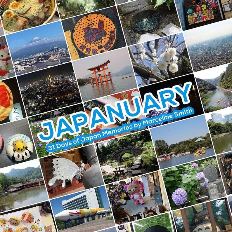 Japanuary Zine  31 Days of Japan Memories Digital PDF image 0