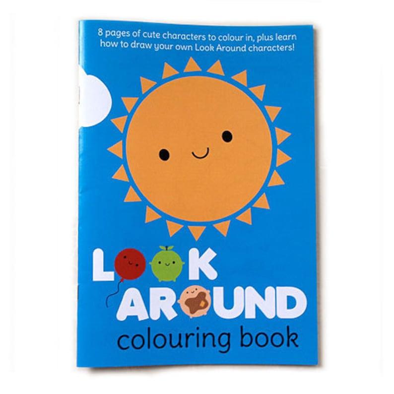 Look Around Printable Kawaii Colouring Book