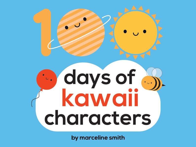100 Days of Kawaii Characters  Digital PDF image 0