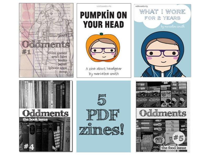 Oddments 5 Zine Set  Food Books Japan  Digital PDF image 0