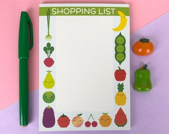 Magnetic Shopping List Notepad For Groceries