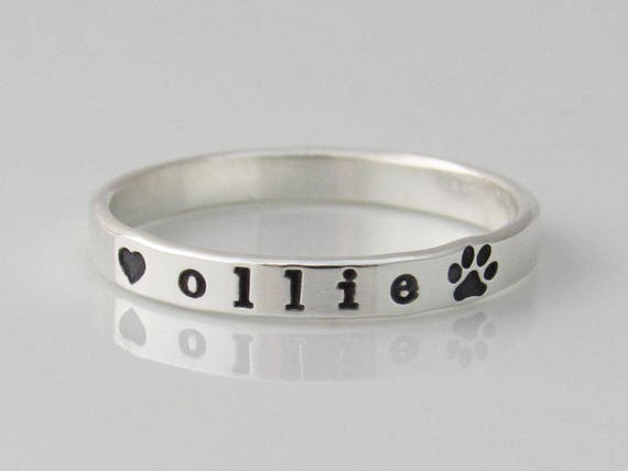 Ronliy Cute Pets Dogs Paw Heart Rings for Wedding Party Charms Jewelry