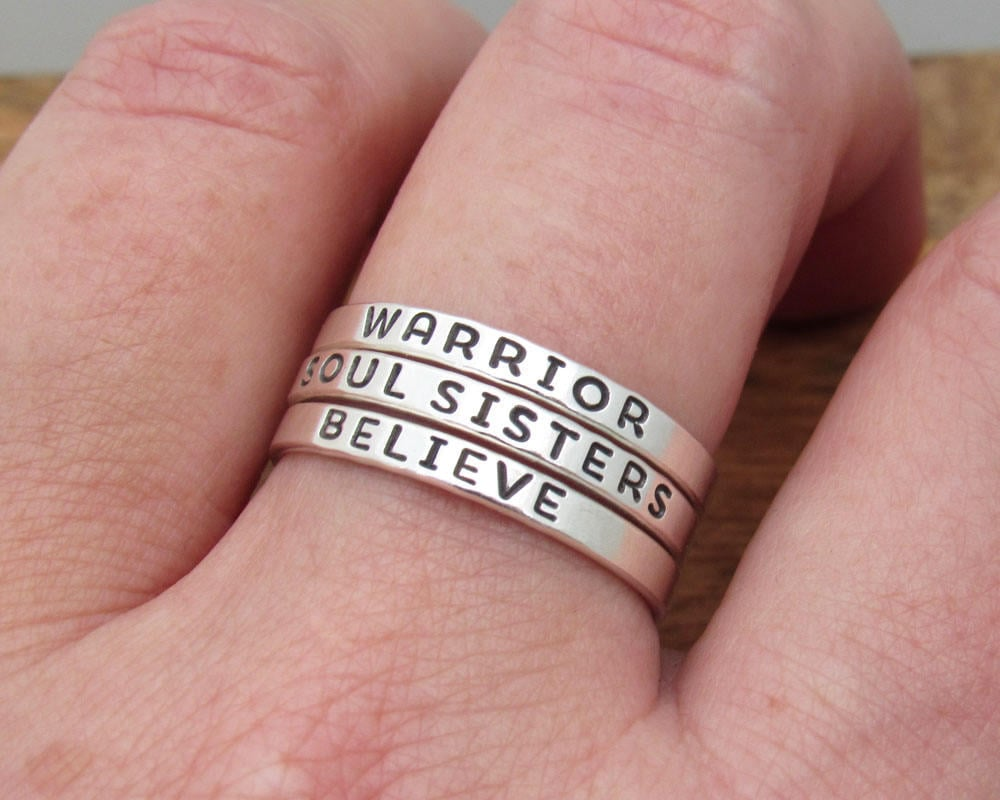 Inspirational Ring Word Ring Soul Sisters Ring   Etsy