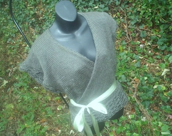 Beautiful & Flattering  -  Hand Knit Wrap Sweater Vest - CUSTOM SIZE- COLOR