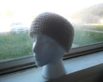 Hand Knit HEADWARMER Cream / off white Adult... Ready to ship