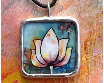 Lotus and Buddha pendant