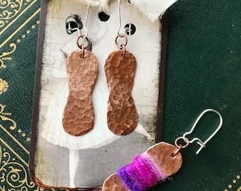 Yarnball Earrings for Knitters