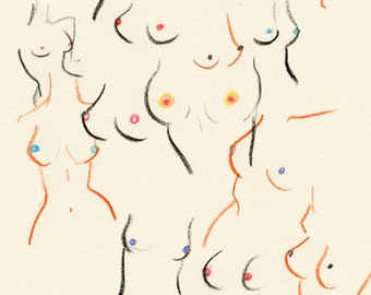 Breasts 8x10 print by Amanda Laurel Atkins