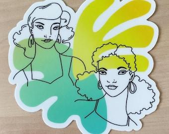 """Summer Ladies 3"""" Vinyl Sticker"""