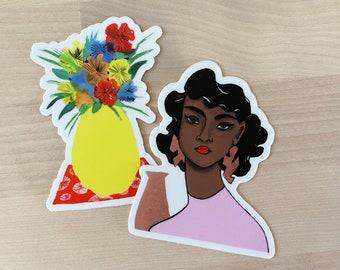 Copper + Flowers Sticker Set