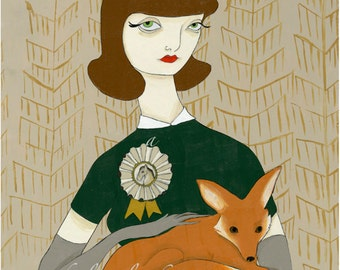 Depending Upon the Nature of the Beast 8x10 fox equestrian inspired print by Amanda Atkins