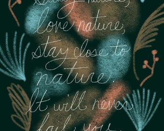Frank Lloyd Wright Nature Quote signed print