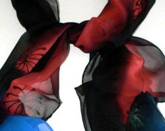 Oblong Silk Scarf Handmade